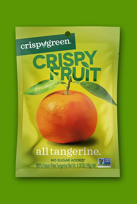 Crispy Green Brand Refresh / Package Design / Messaging Help an established brand reignite sales and build out new markets against increasing competition Designed a bold, highly disruptive package with enormous appetite appeal Increased sales and new retailer acceptance
